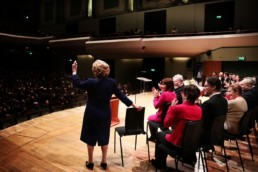 VDISC Final 2019 – Dr Veronica Dunne at the National Concert Hall (NCH) Dublin (Photo Marshall Light Studio)